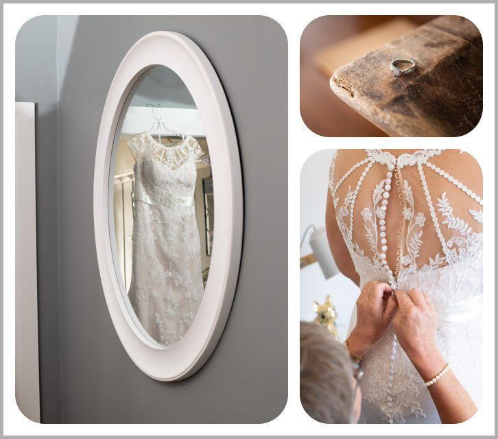 Wedding gown and wedding ring photos