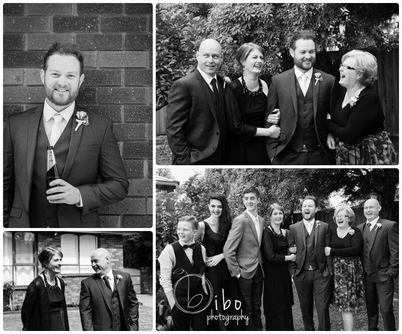 Wedding photographer Ballarat groom candid