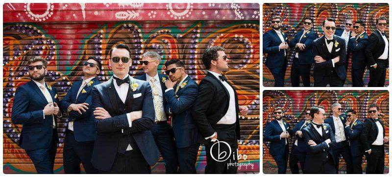 Wedding photography city scape laneway
