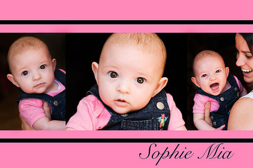 Pink Baby Photography Collage
